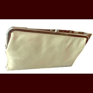 Hobo International Lauren Leather Clutch ~ LINEN